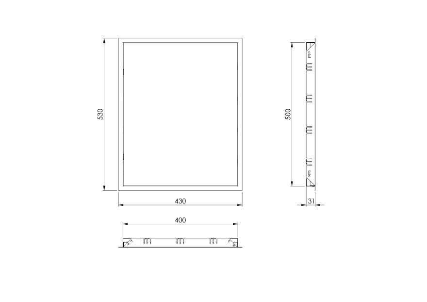 inspectionhatchmetal,400x500mm