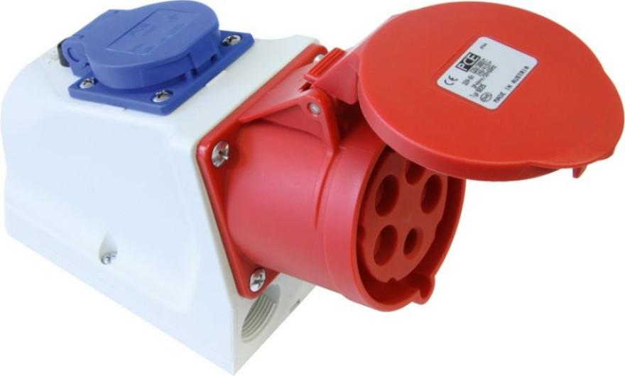 PCE Wall socket16A 5р. 400В + 16A 5p. 230V IP-44
