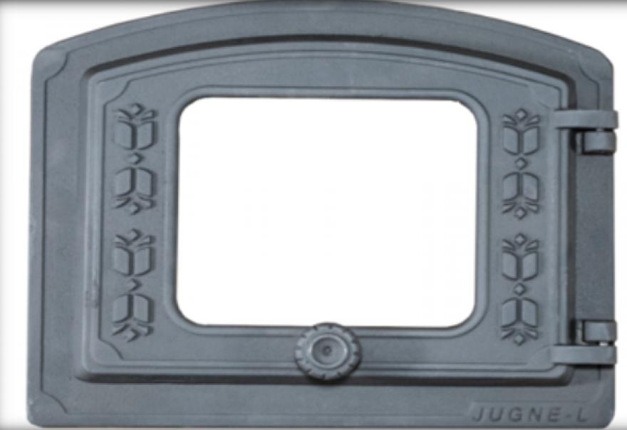 JUGNE-L krāsns durvis ar  stiklu 375x325mm ORK-p  4779028770771
