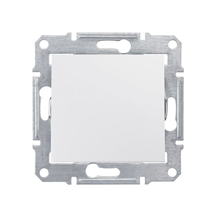 Sedna - 1pole switch - 10AX without frame white