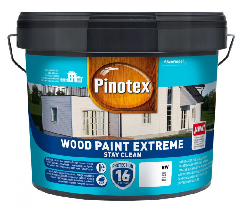 Pinotex WOOD PAINT EXTREME BC 9.4L Paint for wooden facades with self-cleaning ability