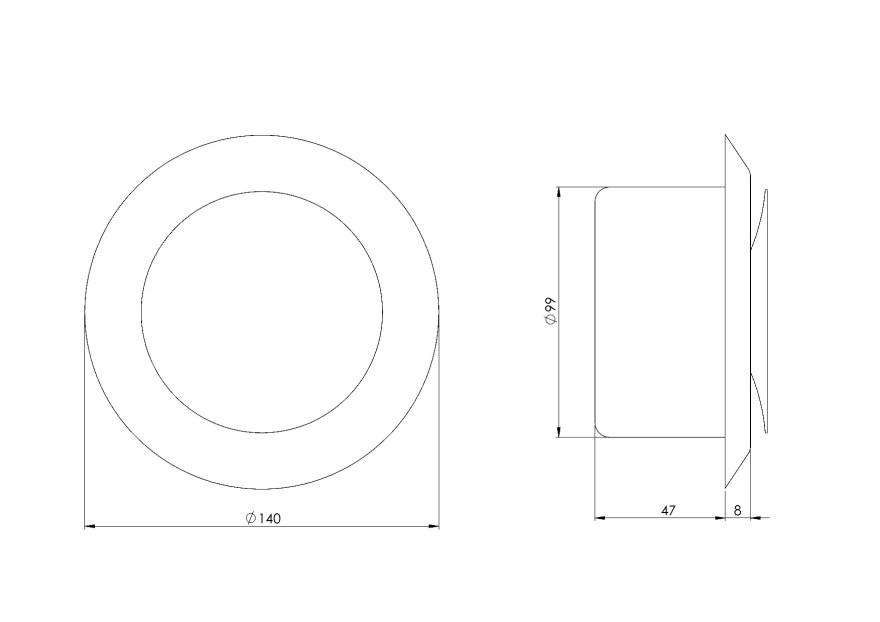 diffusermetal,supply,Ø100mm