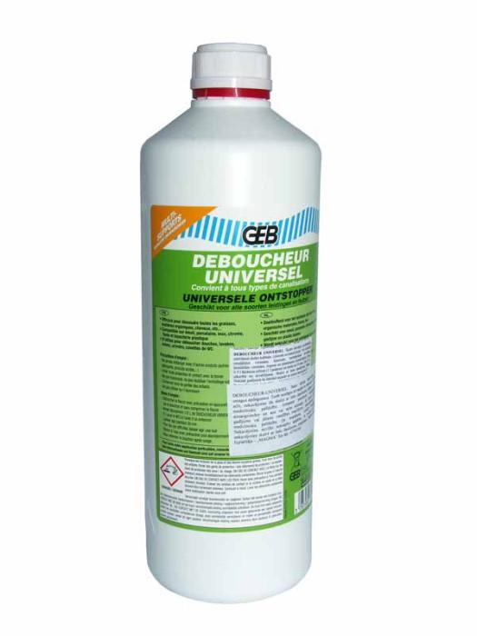 Kanalizācijas caur.tīrīšanas  līdzeklis Universal 1L GEB  6772013 GEB-DEBOUCHEU