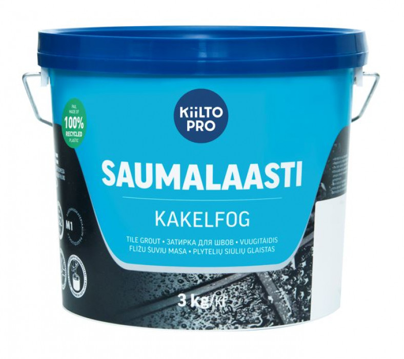 Kiilto SAUMALAASTI Nr.41   3kg  Tile Grout Medium-Grey
