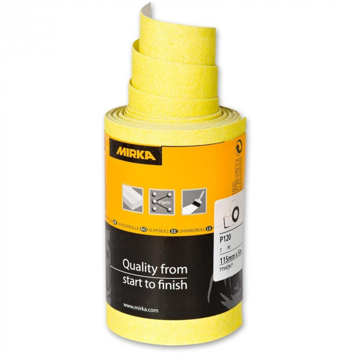 Abrasive Sandpaper MIRKA HIOMANT 115mmx5m P40 4153400140