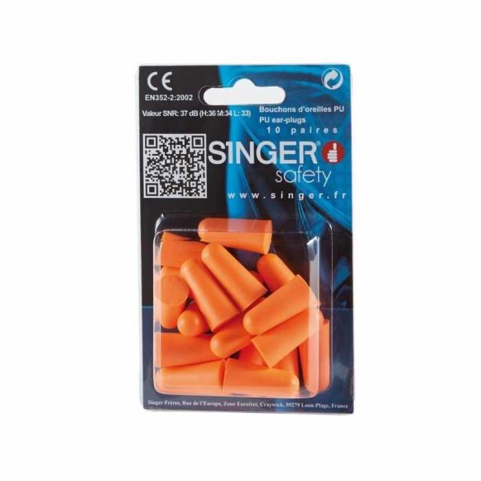 Earplugs SINGER PU (10 pcs) HGB20