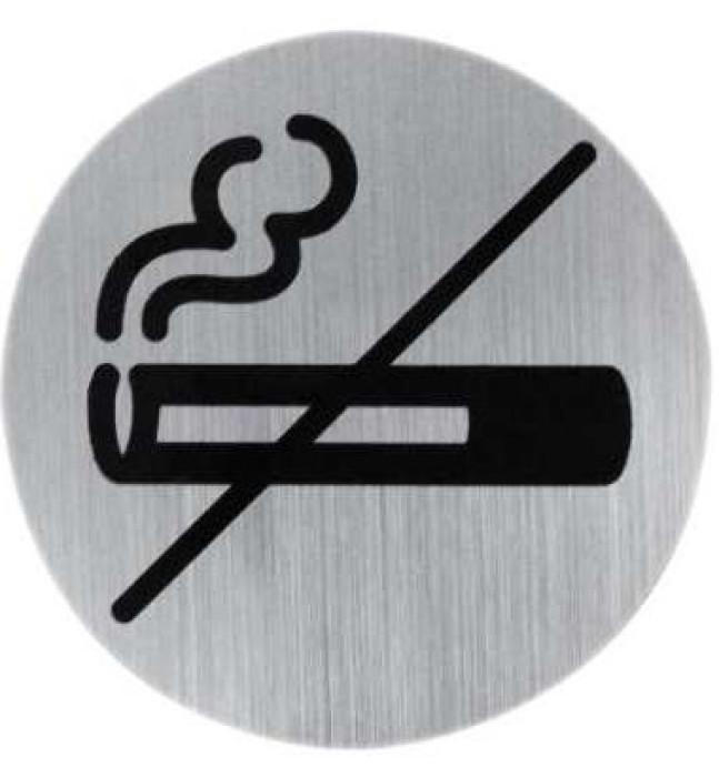 Door sign NO SMOKING, metal