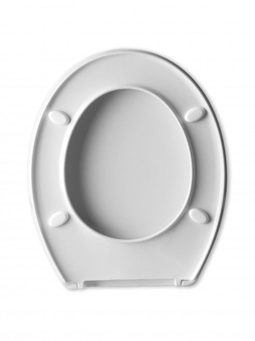 COPA BEACH toilet seat, thermoplast, white,1.2 kg,long sc
