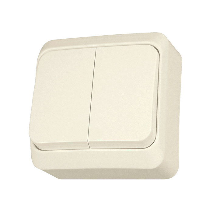 PRIMA - 1pole 2-circuits switch, beige