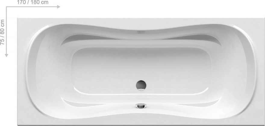 Ravak bathtub CAMPANULA II  170x75cm, without panel,white  CA21000000