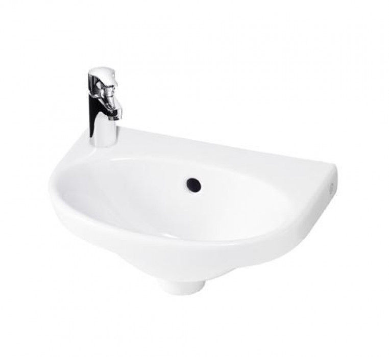 Small bathroom sink Nautic 5540 - for bolt mounting 40 cm Faucet hole on left