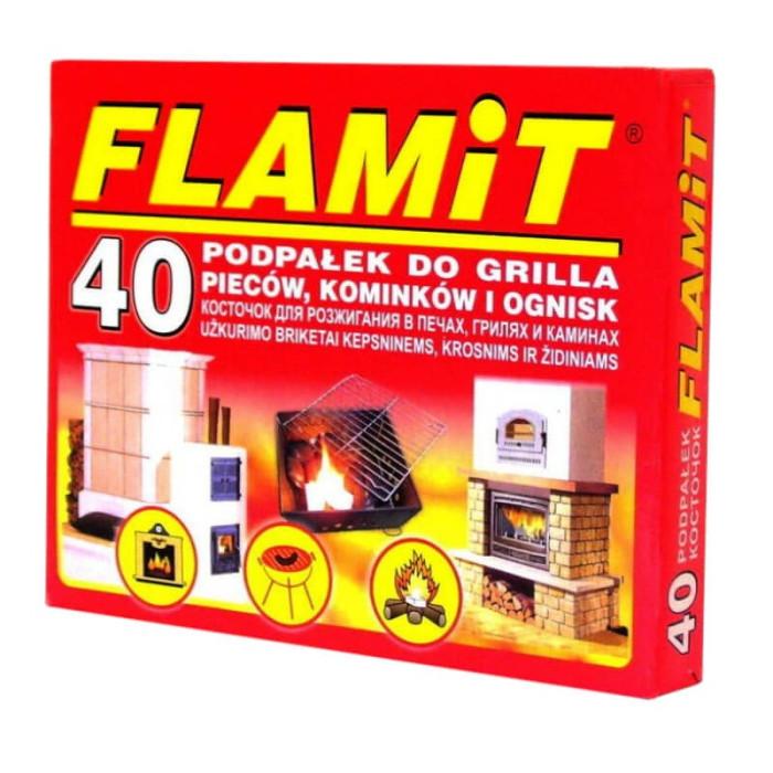 Aizdedzinātājs Flamit, balts, 40gab. griliem ,krāsnīm, ugunskuriem
