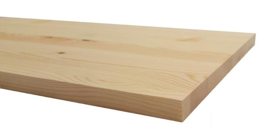 Līmēta masīvā koka plāksne  800x300x18mm Priede Opus