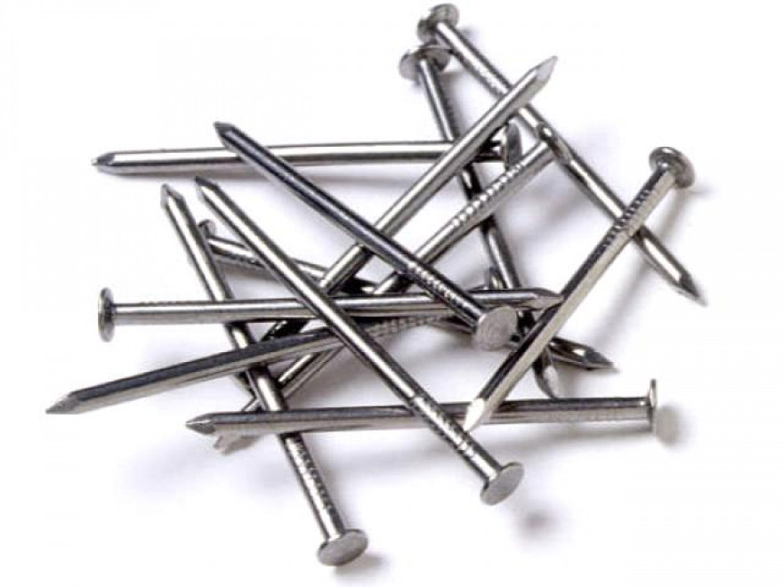 Round wire nails, zinc plated 3.0x70mm, 0.5kg/pkg.