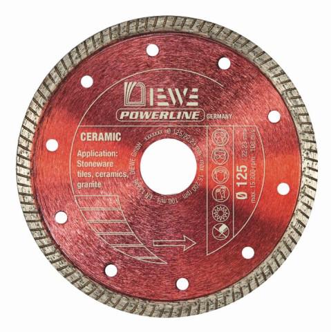 Dimanta ripa akmens/keramika  DIEWE power line 125/22.23