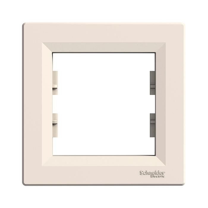 Asfora - 1-gang frame - cream