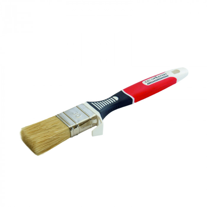 COLOR EXPERT Flat brush 30mm, gr.9mm, beige, 70PBT-30CN bristle, 3K handle