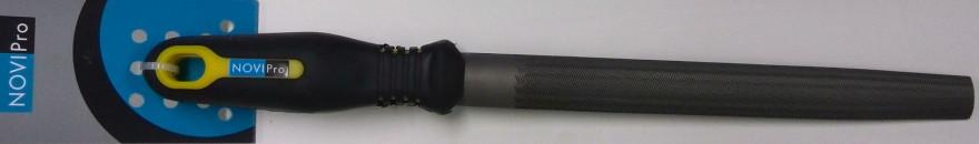 Vīle Novipro 200mm Pusapaļa  smalka