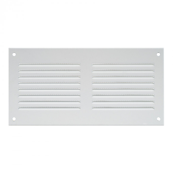 grille metal, 200x100mm, white