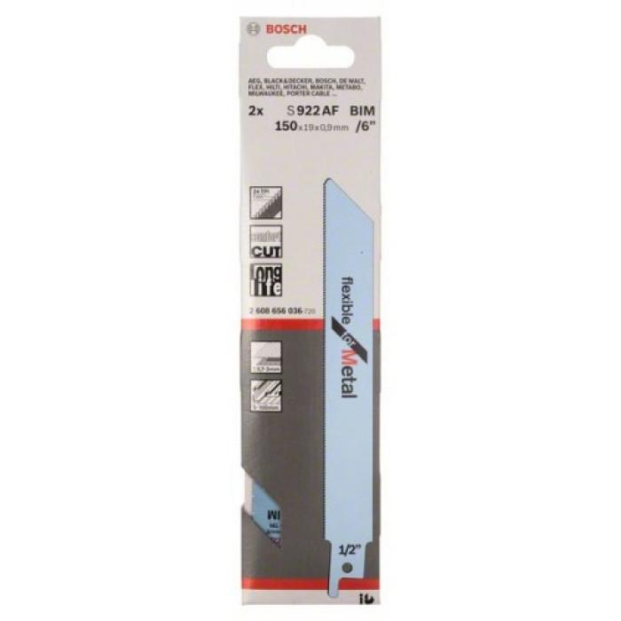 2 Sabre saw blades S 922 AF Flexible for Metal