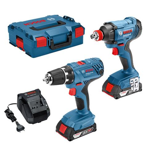 Tool set Bosch (GDX 18V-180 + GSR 18V-21); 18 V; 2x2,0 Ah accu. (06019G5203)