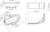 Ravak bathtub ROSA 2 ,  170x105 P white  C421000000