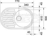 Met.Izlietne PML611,77x50cm  auduma strukt, 3.1/3 izpl.  101.0009.497