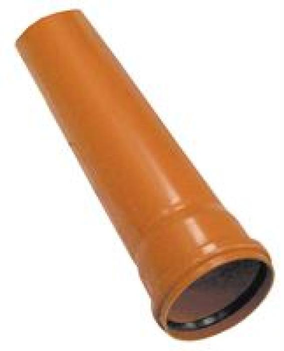 010407 PVC ārējā kanalizācijas  caurule 200/4.9/1000mm,M4