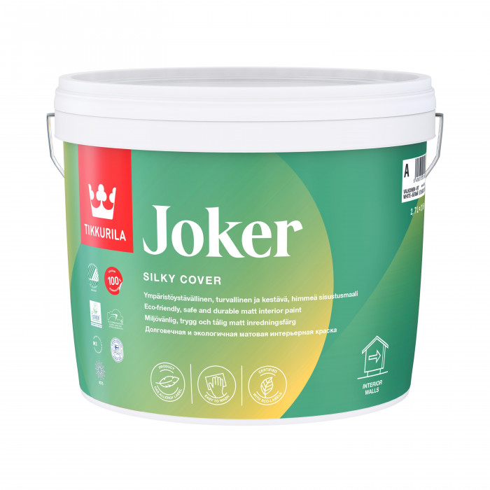 Tikkurila JOKER A 2.7L Solvent free co-polymer emulsion paint