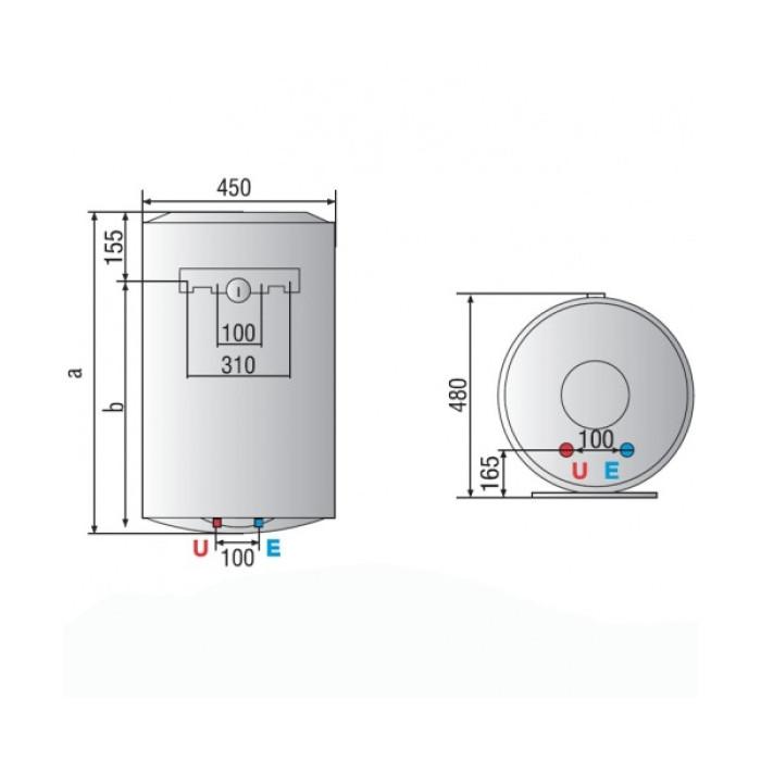 Ūdens boileris ARISTON PRO R  100L vertikāls