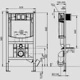 SANIT WC iebūvējamais komplekts 4171/OBT, pods + SC vāks + rāmis + hromēta poga S701-188