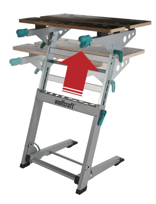 Darba galds ar spīlēm, WOLFCRAFT 6908000