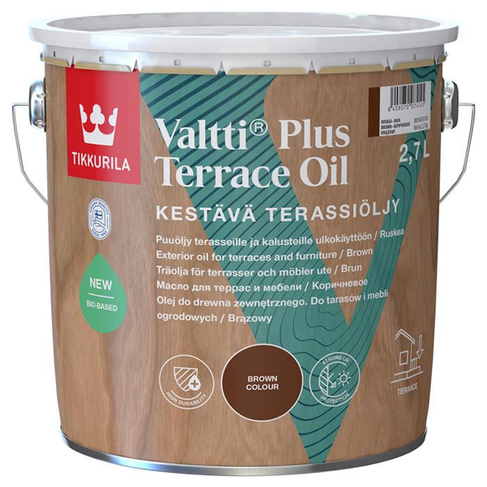 Tikkurila VALTTI PLUS Terassiöljy 2.7L Eļļa kokam ārdarbiem brūna