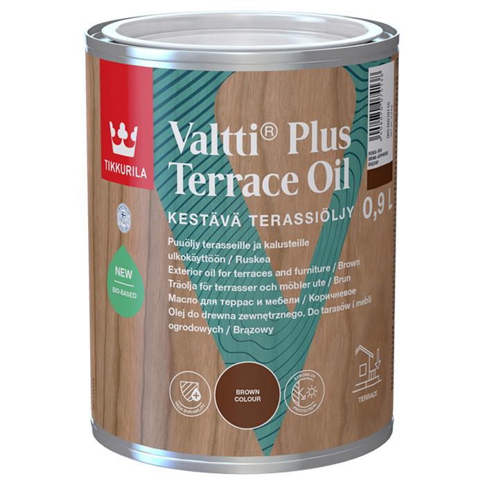 Tikkurila VALTTI PLUS Terassiöljy 0.9L Eļļa kokam ārdarbiem brūna