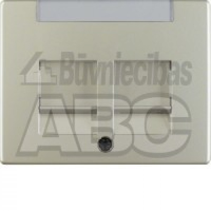 BERKER ARSYS steel centre plate with 2 dust protection sliders