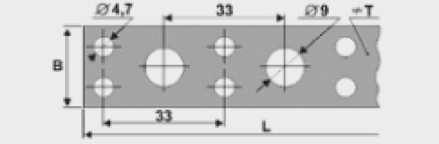 Montāžas lenta  19x1.25mm x10m ZN