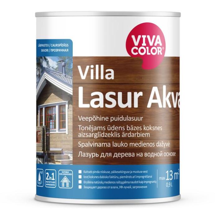 Vivacolor VILLA LASUR AKVA EP 0.9L Tonējams antiseptiķis Kolorex Akva