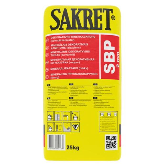 Sakret SBP 3mm 25kg  Mineral decorative plaster