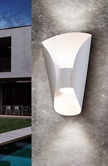 Настенный светильник для улицы EGLO Bosaro LED 2X2.5W 2X180lm 3000K IP44 белый 93991