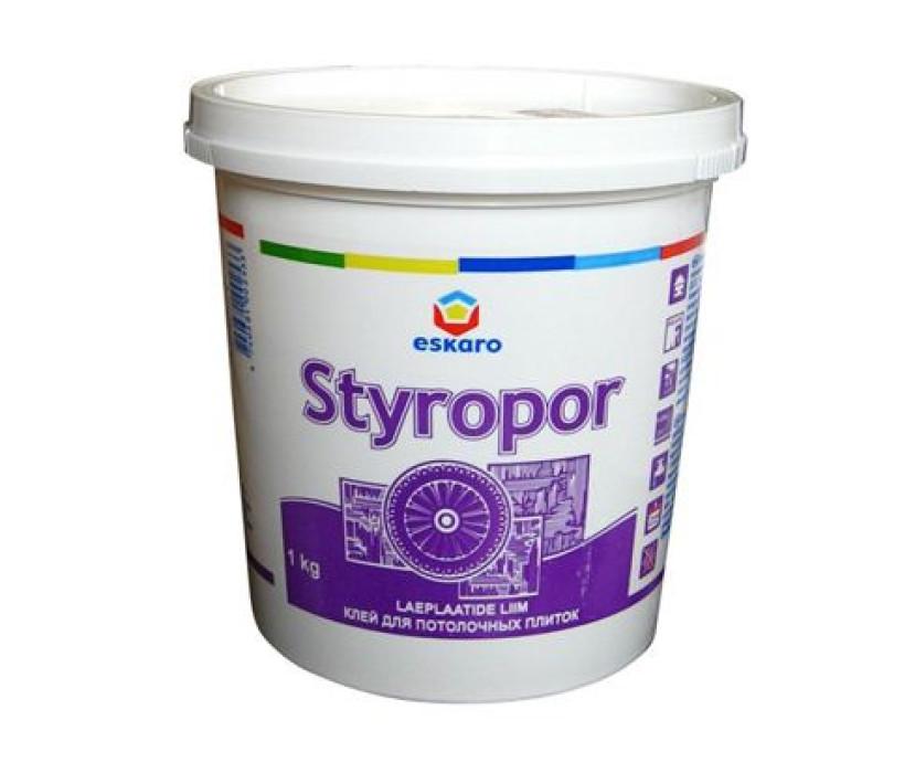 Glue Eskaro Styropor 1 kg, ceiling coverings