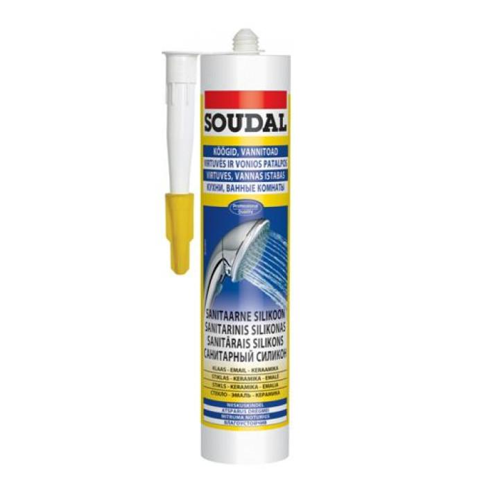 Soudal SILICONE S - sanitary sealant white 310ml