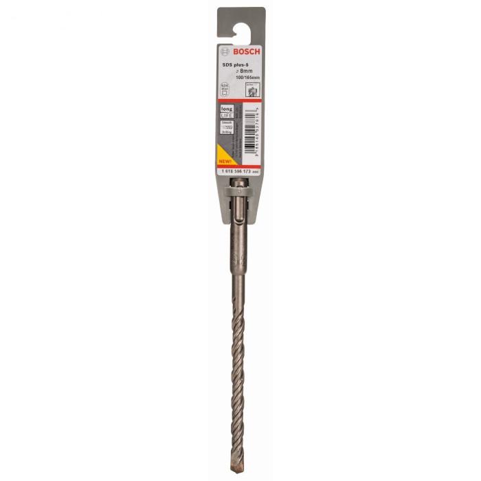 SDS-plus-5 hammer drill bits 8 x 100 x 165 mm