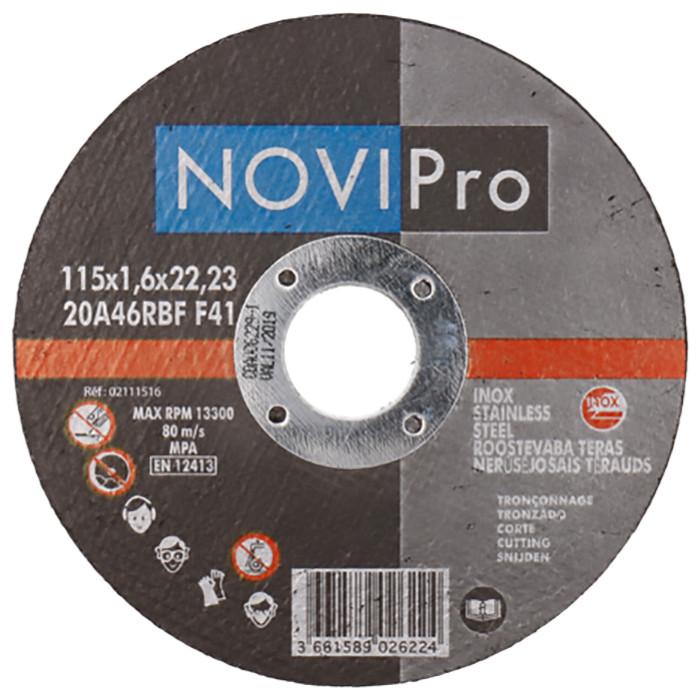Griezējdisks Inox 115X1.6  Novipro