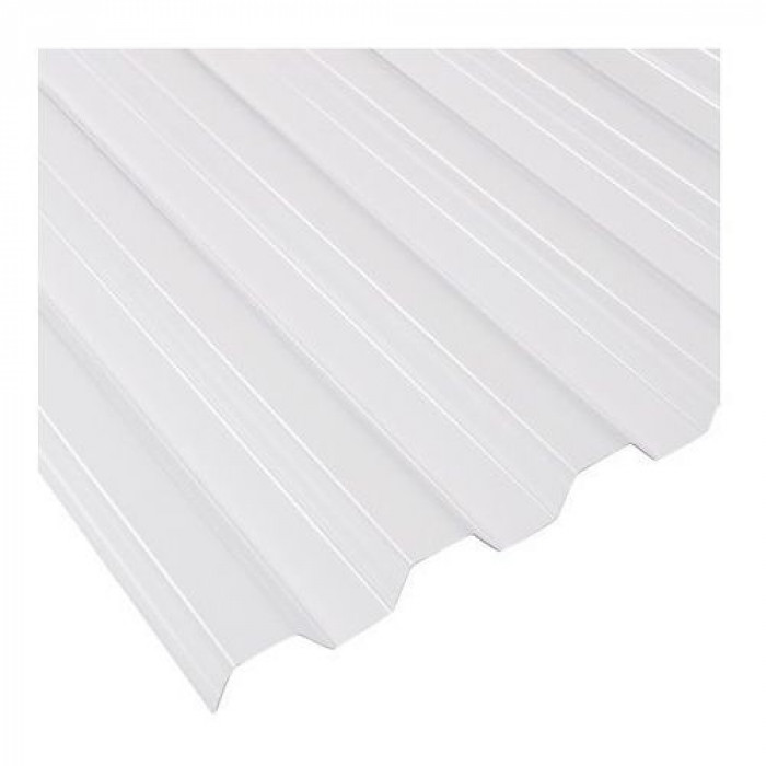 0,8mm corrugated solid PVC sheet 70 /18 trapeze clear 900x2000mm
