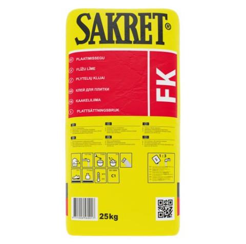 Sakret FK  5kg  Flīžu līme (C1) pelēka