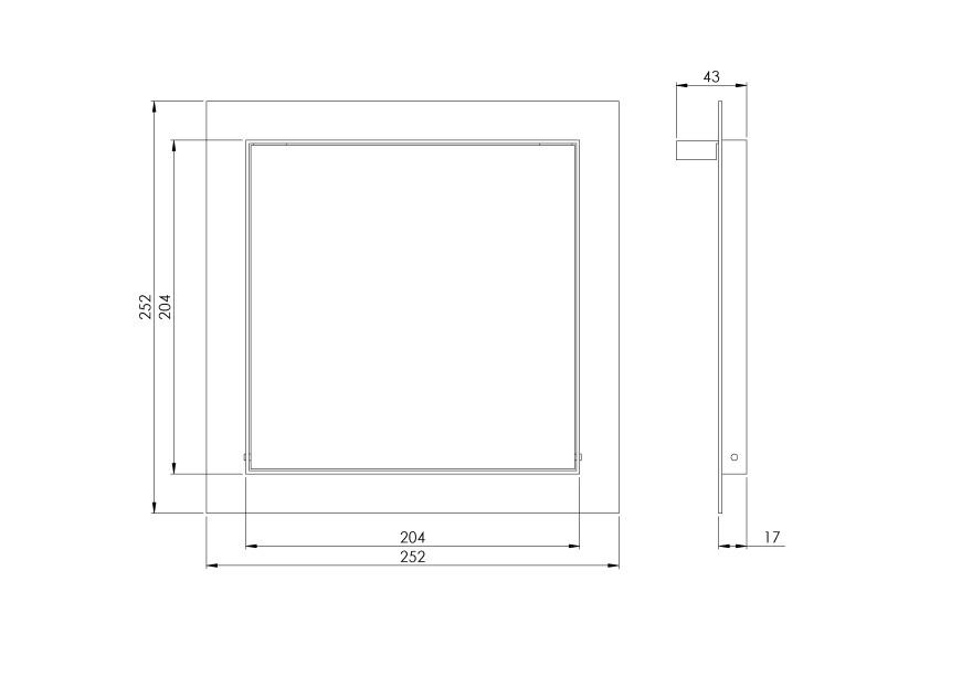 Reģipša revīzijas lūka  200x200mm,RLR2020