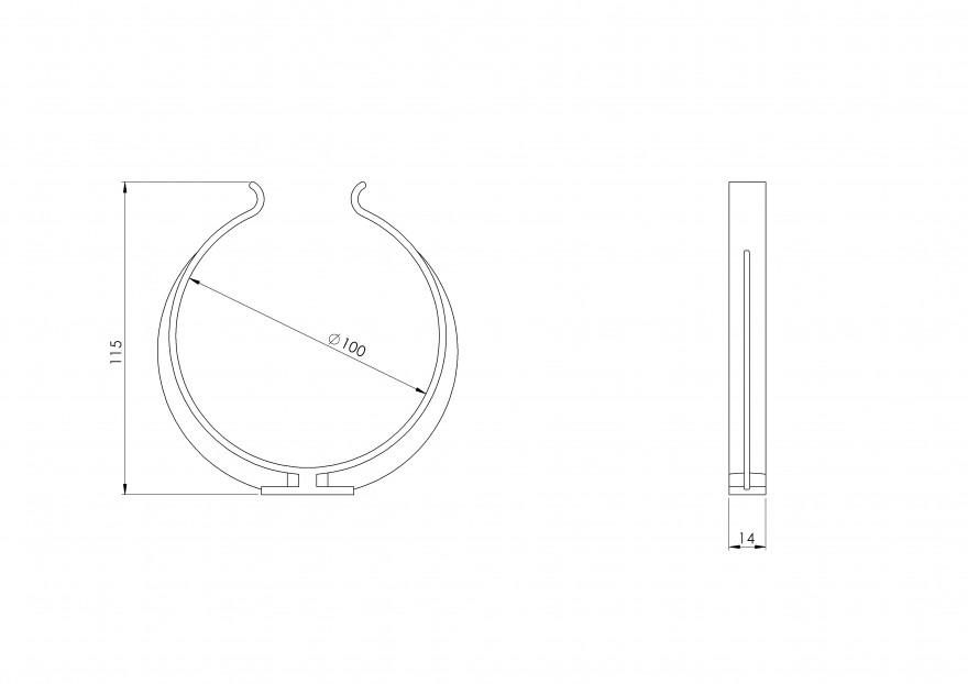 clampplastic,Ø100mm(x2)