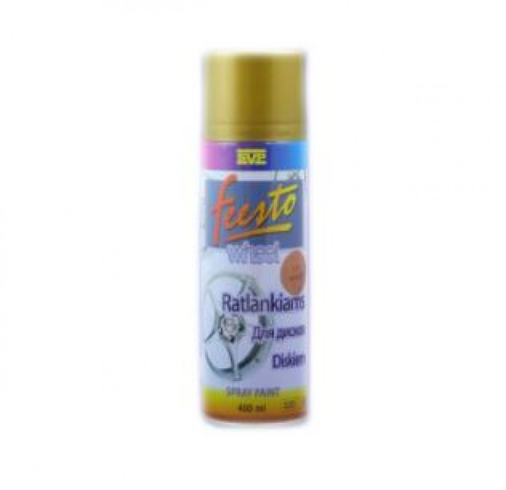 FEESTO SPRAY PAINT FOR WHEELS 400ml (Red gold)