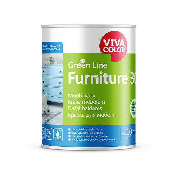 Vivacolor GL Furniture 30 C 0.9L Semi matt furniture paint