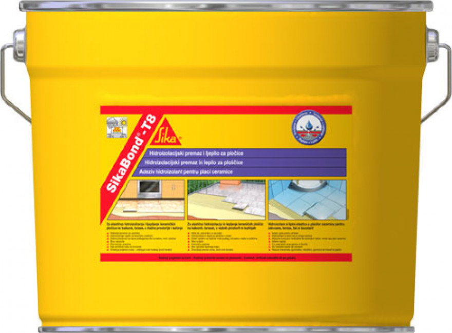Flexible waterproofing and tile adhesive based on polyurethane
